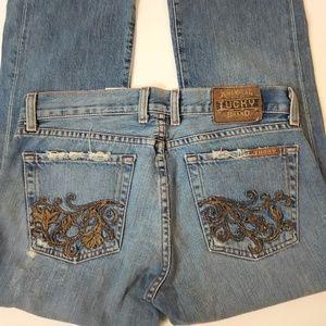 Lucky Jeans Lil Floral Crop Capris Size 4/27